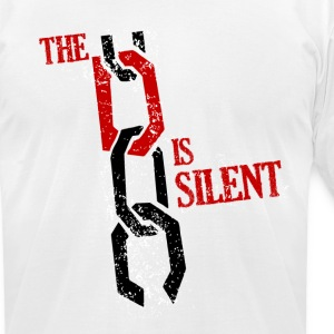 The D Is Silent T-Shirts - Men's T-Shirt by American Apparel