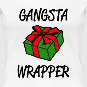 Gangsta Wrapper funny Christmas Shirt - Women's Premium T-Shirt