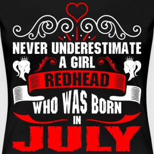 Never Underestimate A Girl Redhead Who Was Born In T-Shirts - Women's Premium T-Shirt