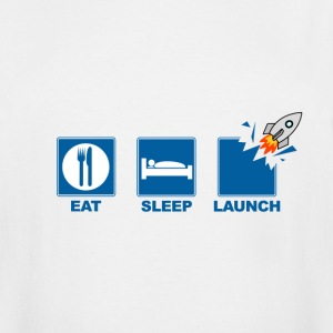 Eat Sleep Launch - Men's Tall T-Shirt