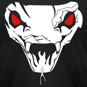 Men's T-Shirt by American Apparel Cobra Skull - Men's T-Shirt by American Apparel