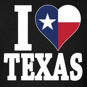 I love Texas flag USA t-shirt - Men's T-Shirt