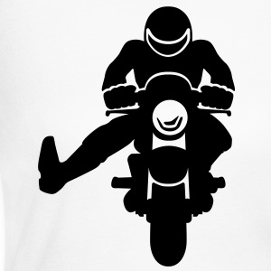 biker raising his leg - Women's Long Sleeve Jersey T-Shirt