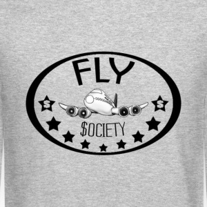 Fly Society. Long Sleeve Shirts - Crewneck Sweatshirt