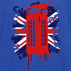 red telephone box with a British flag Tanks - Women's Flowy Tank Top by Bella