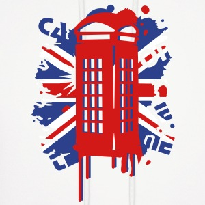 red telephone box with a British flag Hoodies - Men's Hoodie