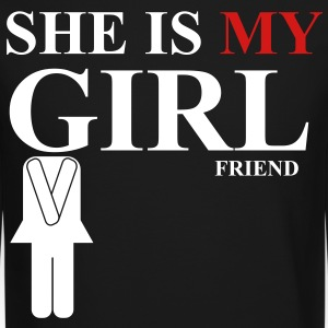 She is my girlfriend - Crewneck Sweatshirt