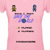 Joey & Owen Save the World Title Screen (Women) - Women's V-Neck T-Shirt