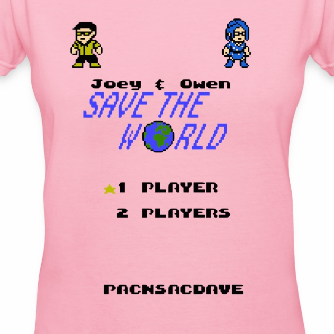 Joey & Owen Save the World Title Screen (Women)
