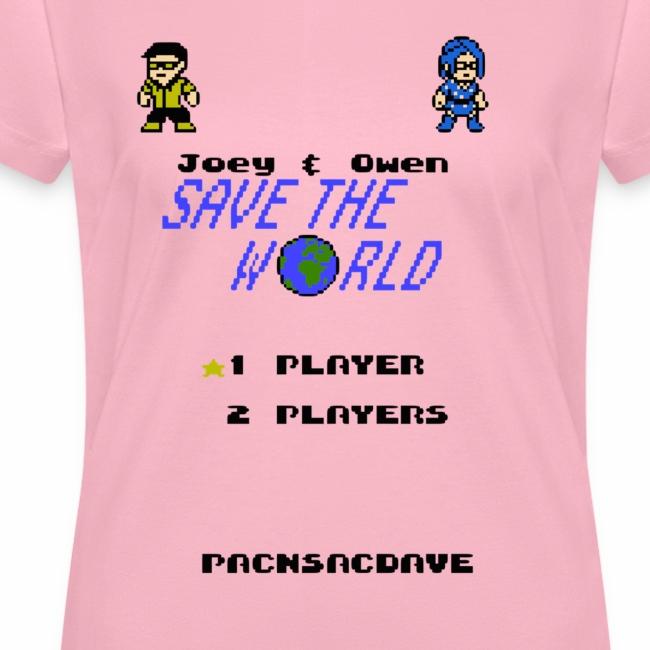 Joey & Owen Save the World Title Screen (Women)