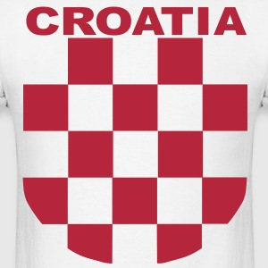 Croatia Šahovnica grb white shirt red T-Shirts - Men's T-Shirt