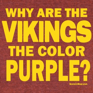 Sconsinwear Vikings Purple T-Shirts - Unisex Tri-Blend T-Shirt by American Apparel