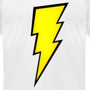 Lightning Bolt. T-Shirts - Men's T-Shirt by American Apparel