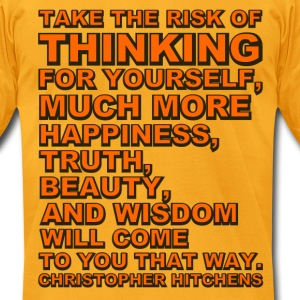 Take the Risk - Hitchens - Men's T-Shirt by American Apparel