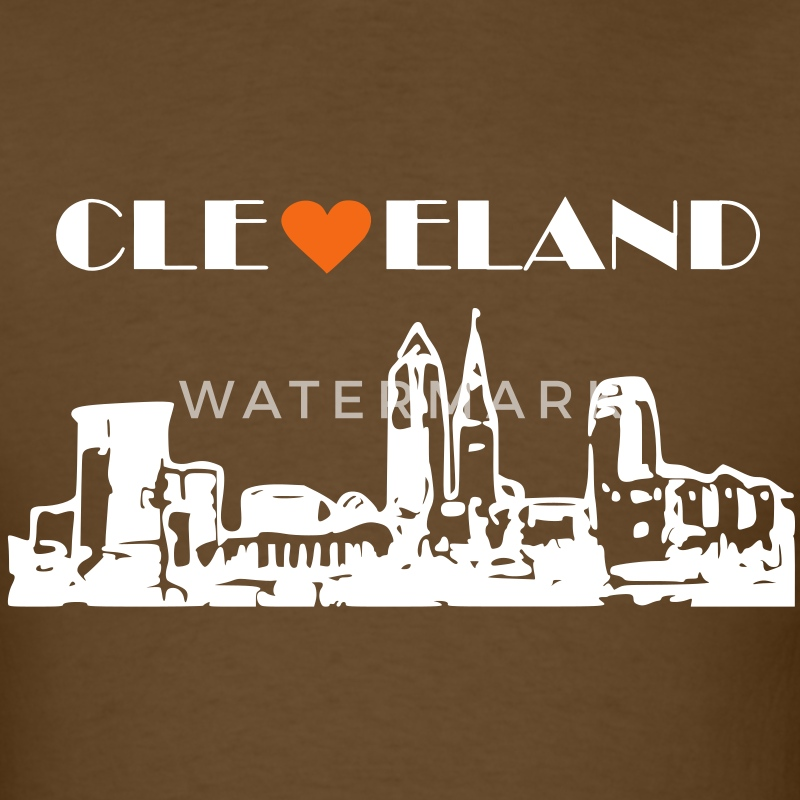 Cleveland Skyline T-Shirts - Men's T-Shirt
