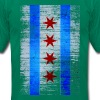Chicago Flag Faded - Men's T-Shirt by American Apparel