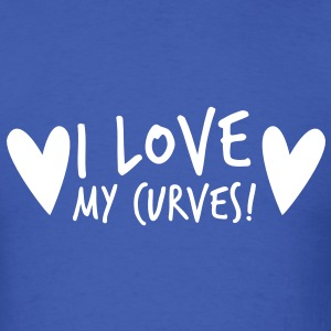 i love my curves with funky hearts T-Shirts - Men's T-Shirt