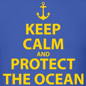 Keep Calm and Protect The Ocean - Men's T-Shirt