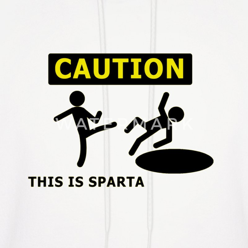 CAUTION this is sparta Hoodies - Men's Hoodie