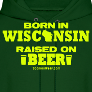 Design ~ Born in Wisconsin - Neon Yellow