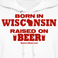Design ~ Born in Wisconsin - Red Shimmer