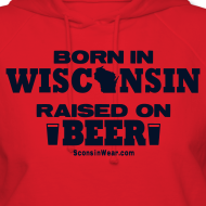 Design ~ Born in Wisconsin - Black Glitz