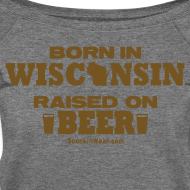 Design ~ Born in Wisconsin - Gold Glitz