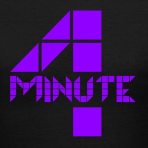 4Minute Logo in Purple Women's V-Neck - Women's V-Neck T-Shirt