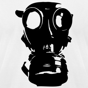 gas mask, skull, skull, respiratory protection,  T-Shirts - Men's T-Shirt by American Apparel