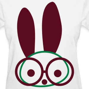 Glasses Bunny Women's T-Shirts - Women's T-Shirt