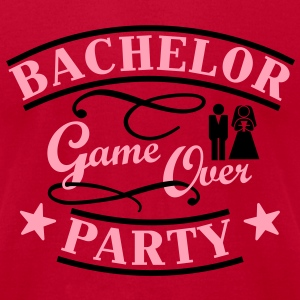 bachelor party game over T-Shirts - Men's T-Shirt by American Apparel