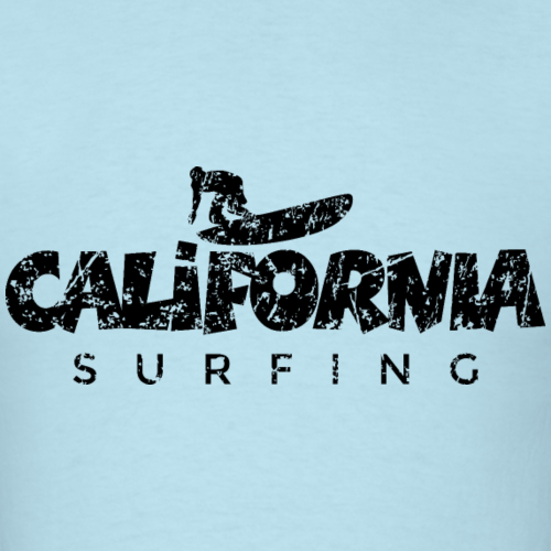 California Surfing Distressed Black