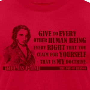 Thomas Paine - The Age of Reason - Men's T-Shirt by American Apparel