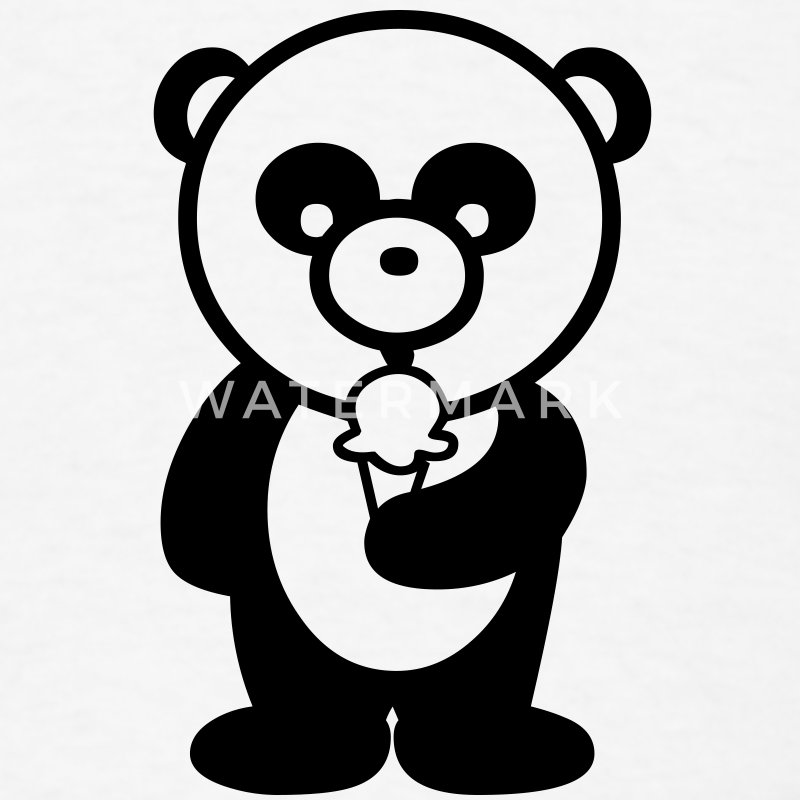 Panda with Ice Cream T-Shirts - Men's T-Shirt