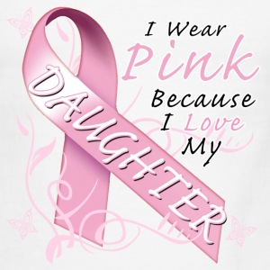 i_wear_pink_because_i_love_my_daughter T-Shirts - Men's Ringer T-Shirt
