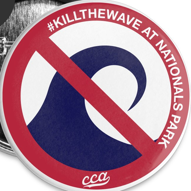 """""""Kill the Wave"""" Buttons - 5 Pack"""