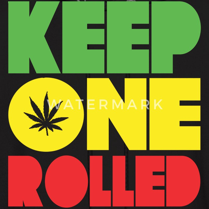 Keep One Rolled Rasta Design Hoodies - Men's Hoodie
