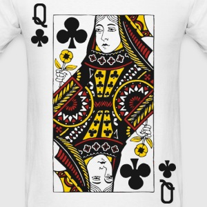 Queen of Clubs T-Shirts - Men's T-Shirt