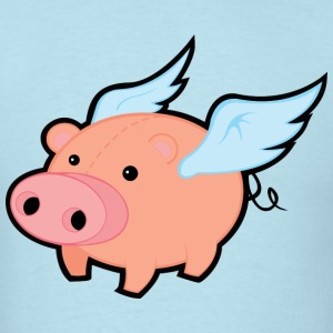 Pig with Wings T-Shirts - Men's T-Shirt