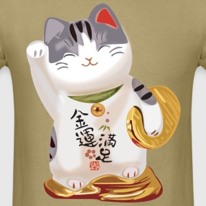 Japanese Lucky Cat T-Shirts - Men's T-Shirt