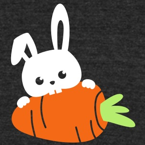 rabbit with carrot T-Shirts - Unisex Tri-Blend T-Shirt by American Apparel