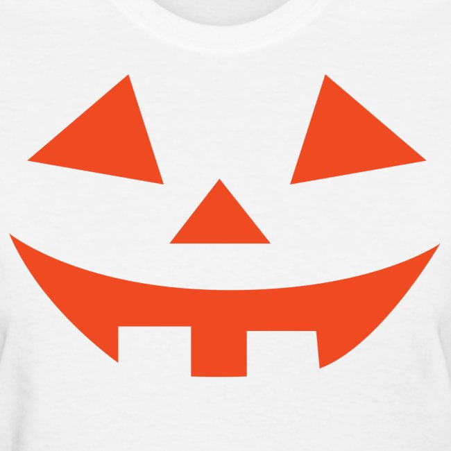 Women's t-shirt * Jack-o'-lantern (pumpkin face 2) (white)