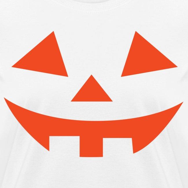 Women's t-shirt * Jack-o'-lantern (pumpkin face 2) (white)