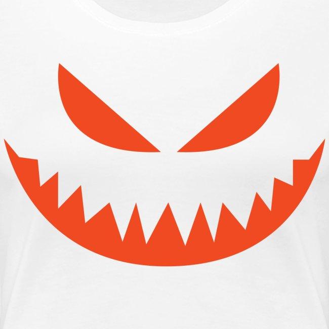 Women's premium t-shirt * Jack-o'-lantern (pumpkin face 4)