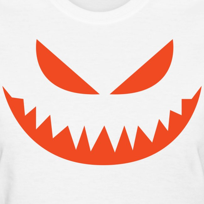 Women's t-shirt * Jack-o'-lantern (pumpkin face 4) (white)