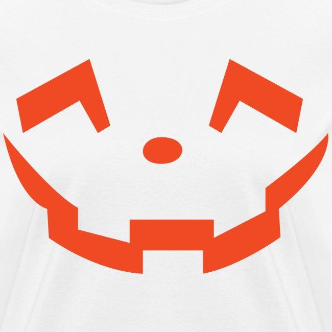 Women's t-shirt * Jack-o'-lantern (pumpkin face 5) (white)