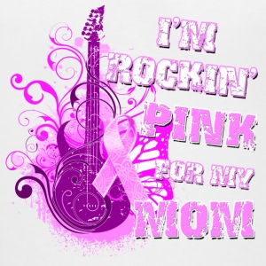 I'm Rockin' Pink for my Mom Women's T-Shirts - Women's V-Neck T-Shirt