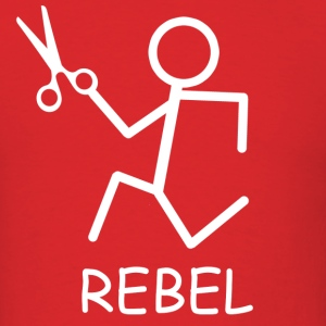 Rebel Running Scissors - Men's T-Shirt