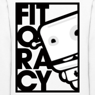 Design ~ Fitocracy - FRED White Graphic - Women's White Hoodie