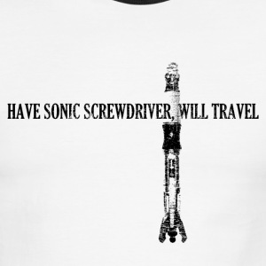 Have Sonic Screwdriver, Will Travel (11 Version) | - Men's Ringer T-Shirt